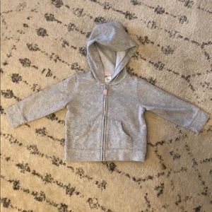 Grey sparkle hoodie by Carter's size 12 month
